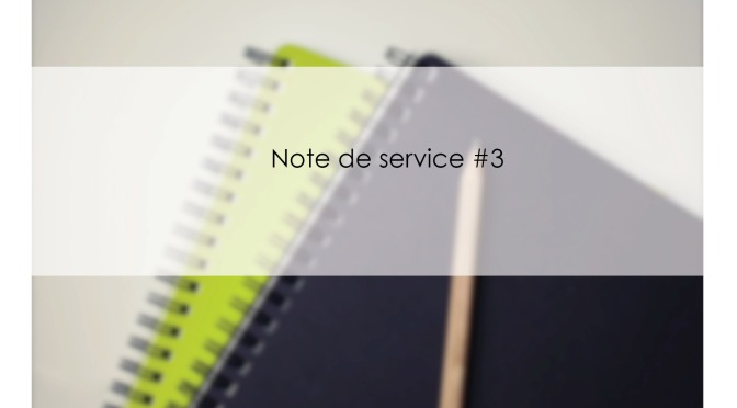 NOTE DE SERVICE #3 –  Organisation des relations entre les AD et les services et établissements employant des agents rémunérés par le MAAF