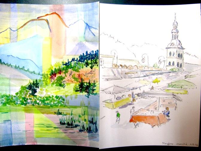 L'aquarelle et le dessin s'invitent à Megève