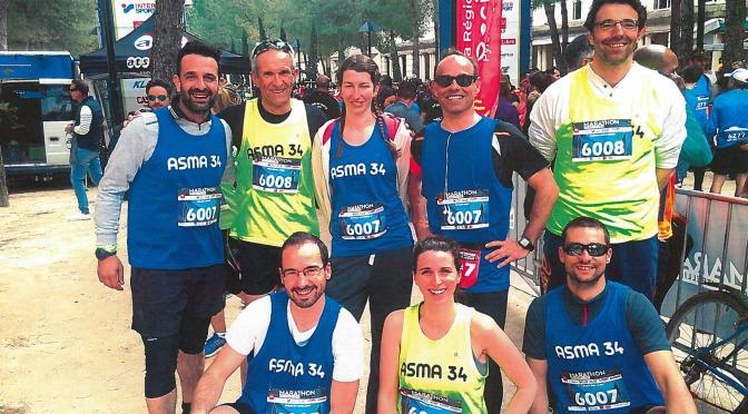 L' ASMA 34 : 3 équipes pour courir le marathon en relais